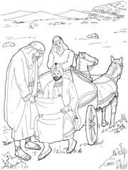 Philip and the ethiopian coloring sheet coloring page for Ethiopian eunuch coloring page
